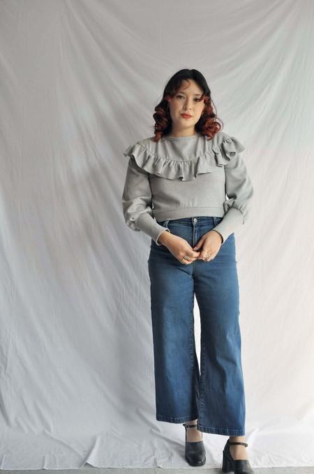 Rightful Owner Fleece Sweatshirt - Light Grey