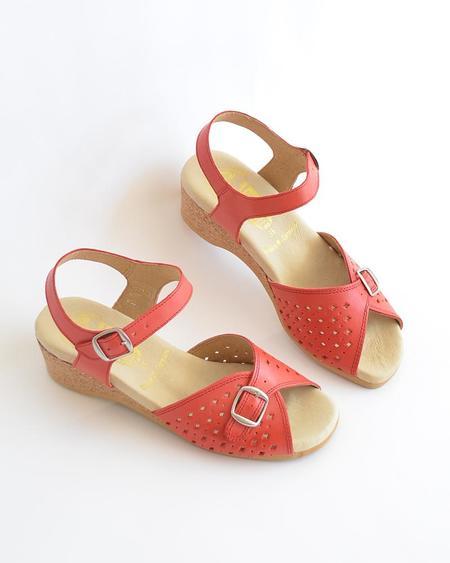 Vamp Shoes Worishofer Mary Jane - Red