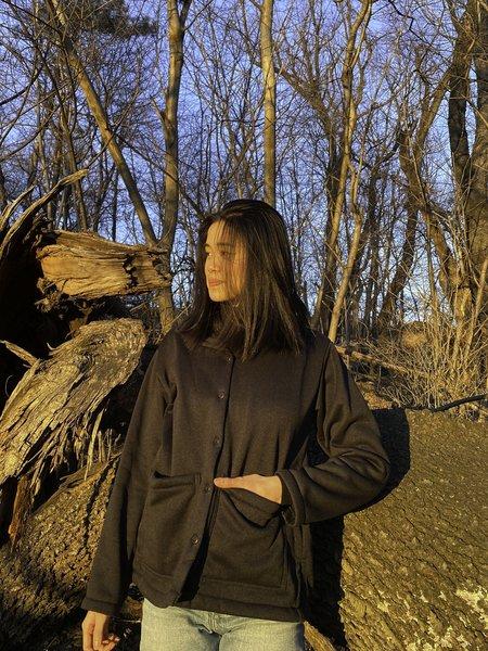 Conrado Nicole Fleece Chore Jacket - Black