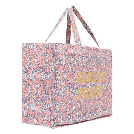 Bonton Garden Power Tote Bag - Pink Floral Print