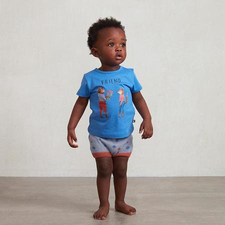 Kids Oeuf T-shirt - Sky Blue/Friend Print
