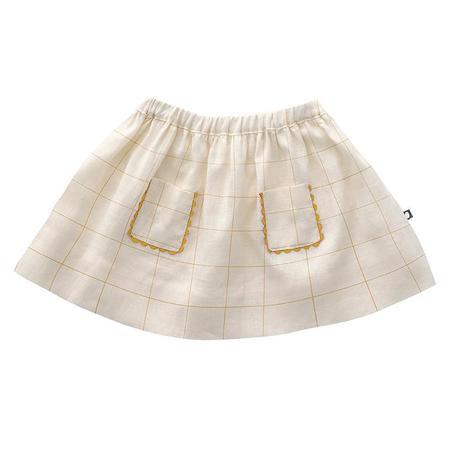 Kids Oeuf Child Skirt - Gardenia Cream Checks
