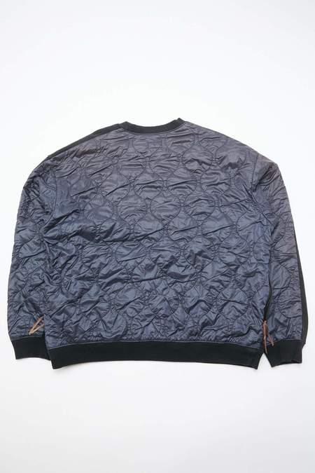 Kapital Fleecy Knit Bivouac Big Sweatshirt - Black