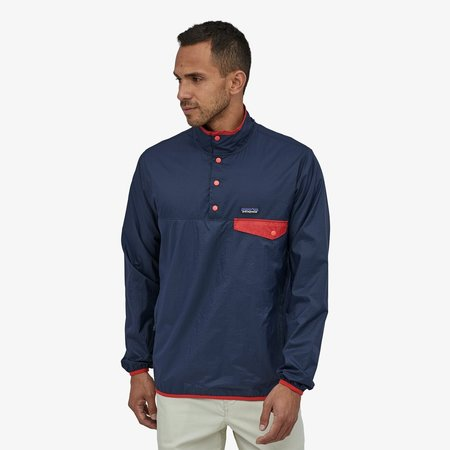 Patagonia Men's Houdini® Snap-T® Pullover - Stone Blue/New Navy
