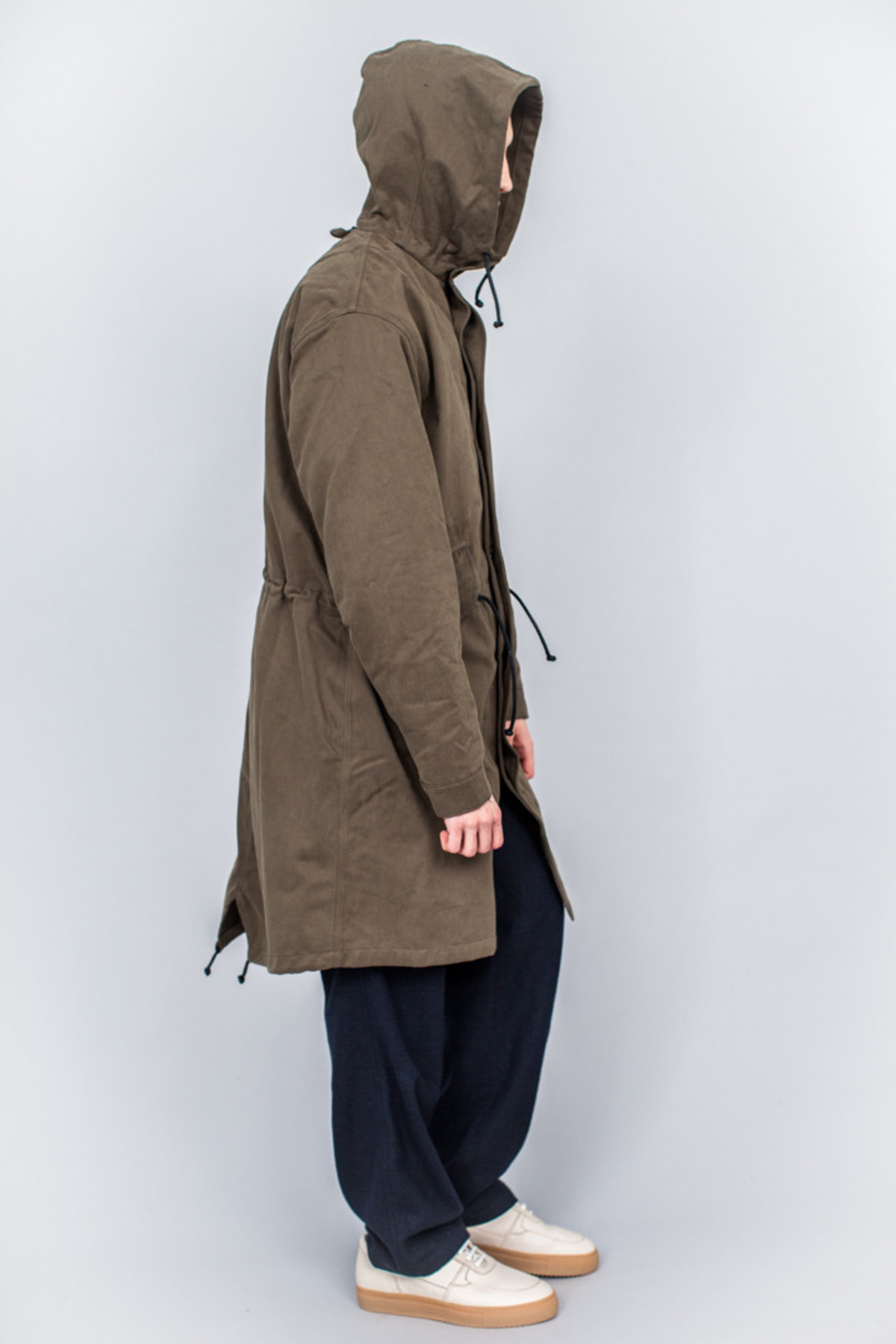 MHL Fishtail Parka Proofed Cotton Drill Khaki | Garmentory