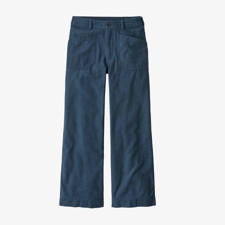"Patagonia Organic Cotton Slub-Woven Pants 28"" - Stone Blue"