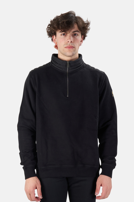 Belstaff Jaxon Quarter Zip Pullover Sweater - Black