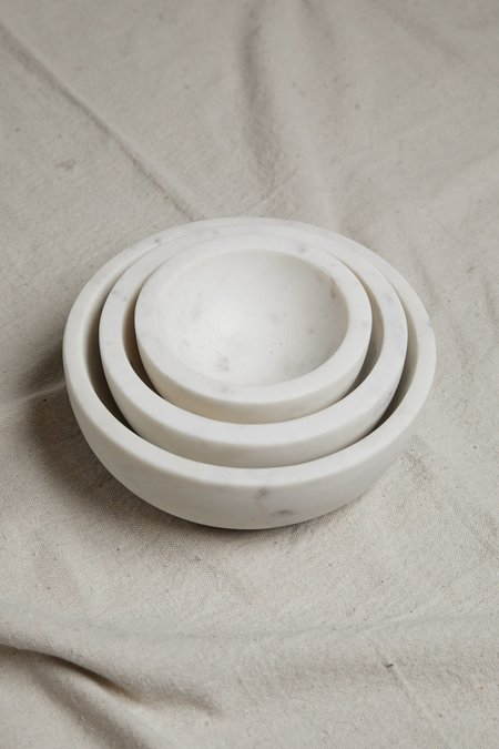 Hawkins New York Medium Marble Bowl - White