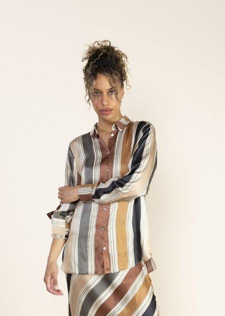 Summum Woman Printed Stripe Blouse - Multi