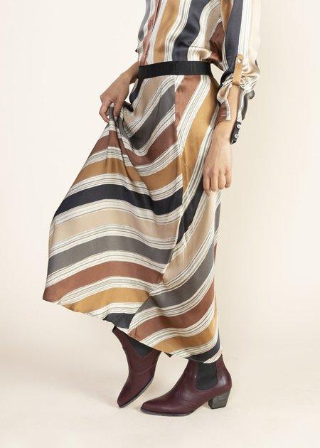 Summum Woman Printed Stripe Skirt - Multi