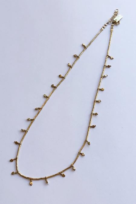 IL Design Dune Short Even Stamped Necklace - Gold