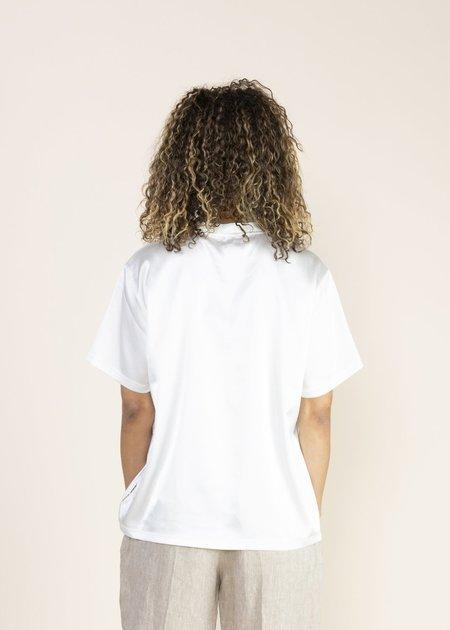 OOFWear Shiny Satin T-Shirt - White