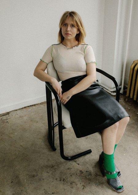 Amomento Vegan Leather Skirt - Black