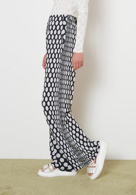 Maison Margiela MM6 Jersey Viscose Stretch Polka Dot Pants - Black/White