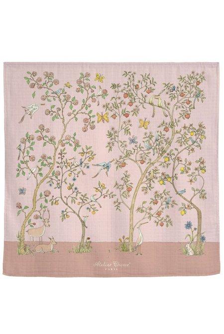 kids Atelier Choux CARRÉ blanket - BLOOM PINK