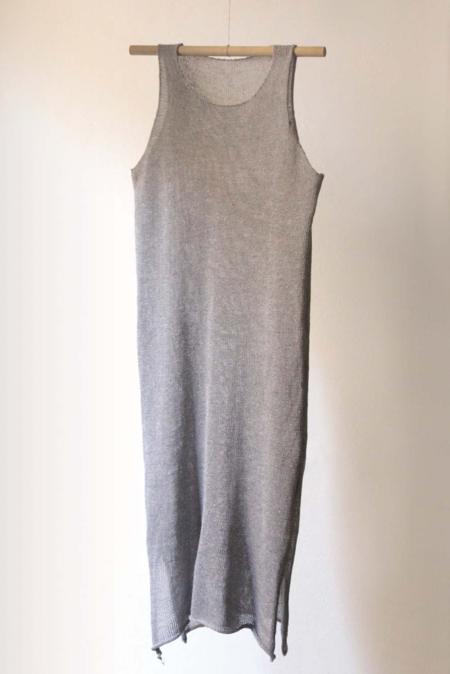 Nido hand knitted lino dress - grey