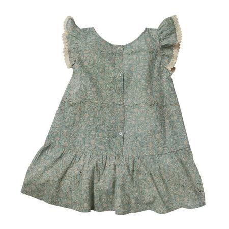 Kids Bonheur Du Jour Anemone Dress - Blue Green