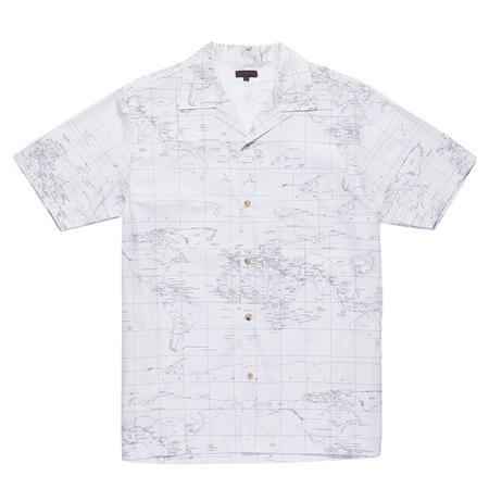 Clot Global Haze Short Sleeve Shirt - White