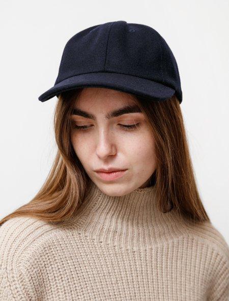 Norse Projects Wool Sports Cap - Dark Navy