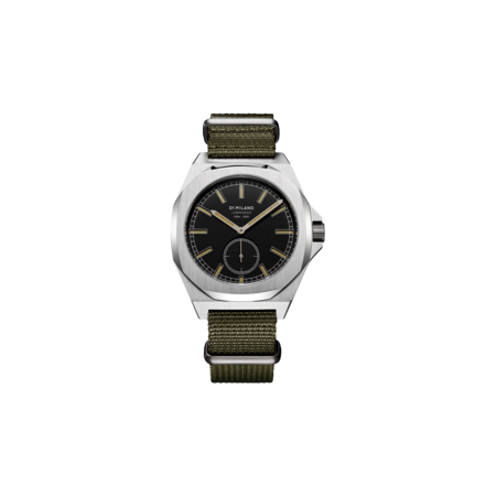 D1 Milano Commando Nato 38 MM Tank D1-MTNJ03 watch - Silver Stainless Steel