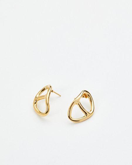 Luz Oritz Leon Earrings - Gold