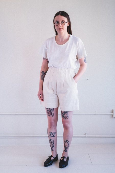 Micaela Greg UTILITY SHORT - CREAM