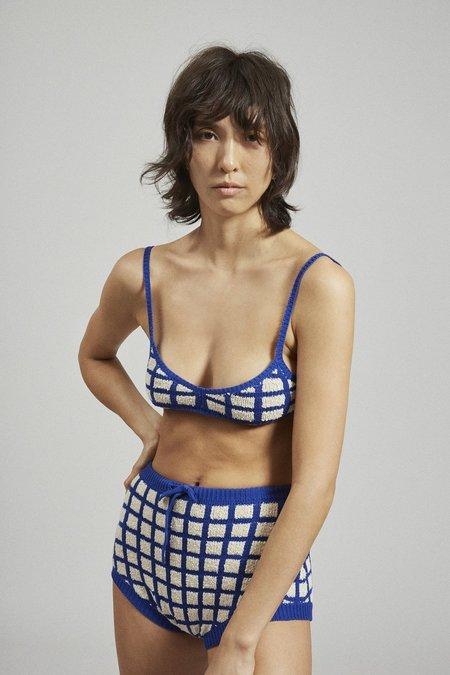 Rachel Comey Albon Top - Blue Grid Boucle
