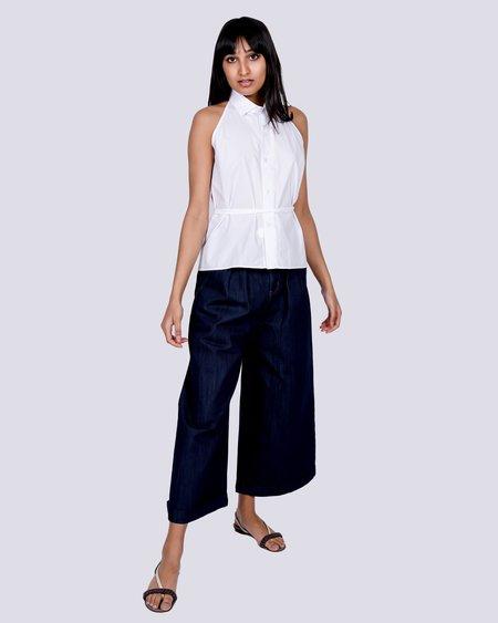 Baserange Apron Shirt - White