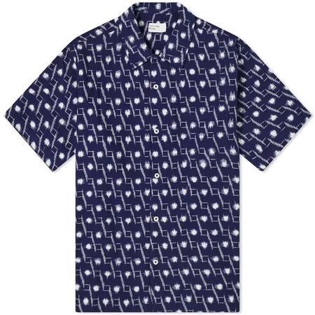 S-UNIVERSALWORKS Handloom Ikat Road Shirt - Indigo