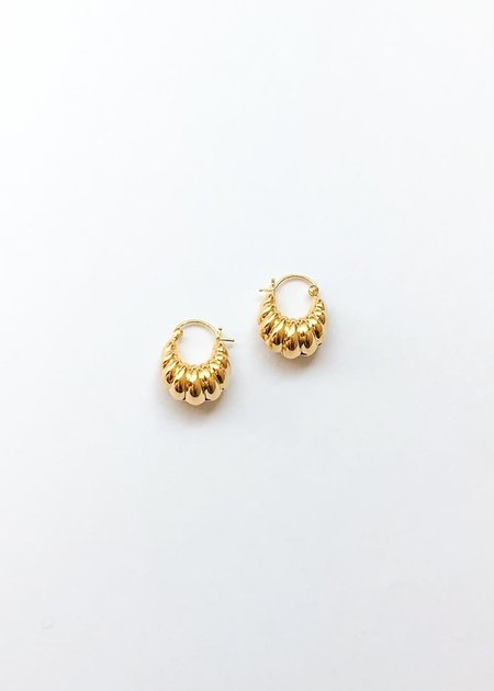Sophie Buhai Shell Hoops - Gold
