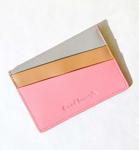 MATTER MATTERS Good Enough Multicolor card case - Peach