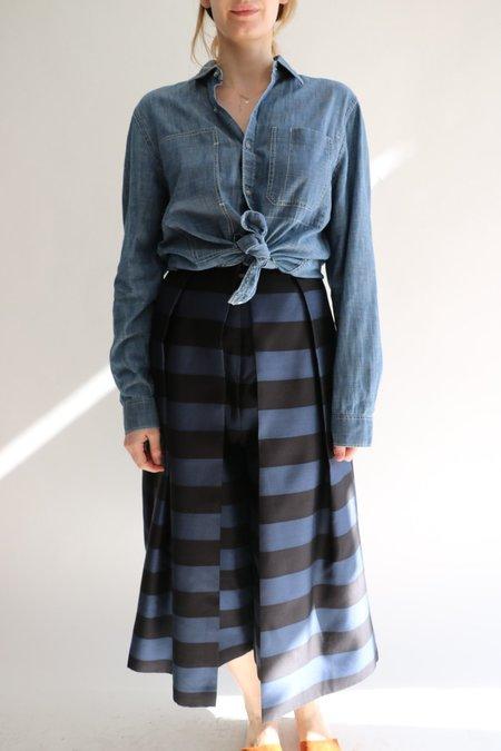 [Pre-loved] Tibi Striped Escalante Pants - Navy/Black