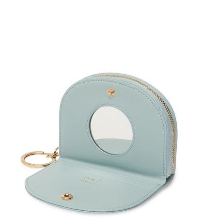 OAD Calf Dia Mini Mirror Wallet - Cloud Blue