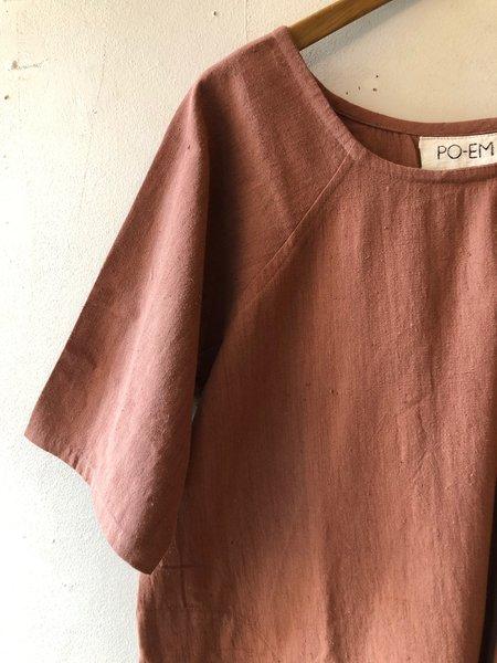 Vagabond Cotton Day Dress - Terracotta