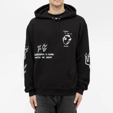 UNISEX polar hoodie sweater - black