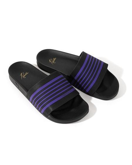 Needles Shower Track Line Sandals - Black/Purple