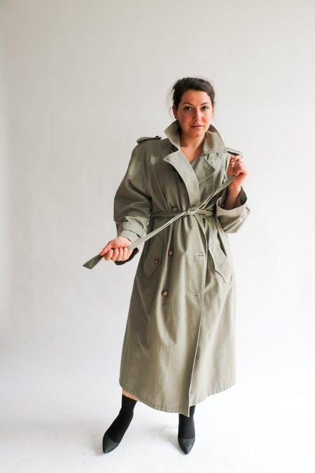 Vintage Evan Piccone Trenchcoat - Olive/Grey
