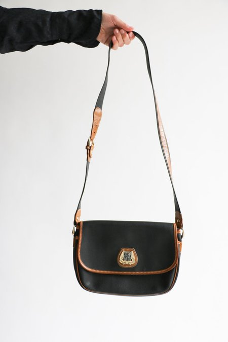 Vintage Lancel Leather Crossbody Bag