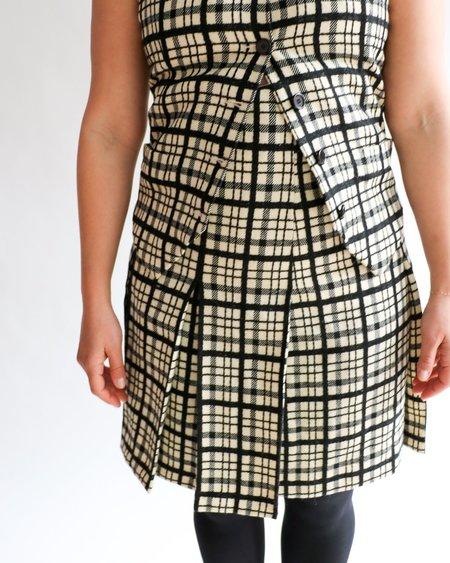 Vintage Yves Saint Laurent Plaid Skirt - Cream/Black