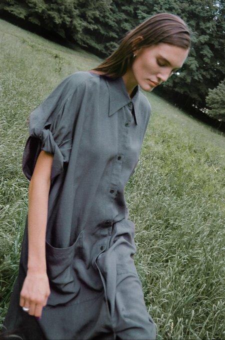 Sayaka Davis Twisted Sleeve Dress