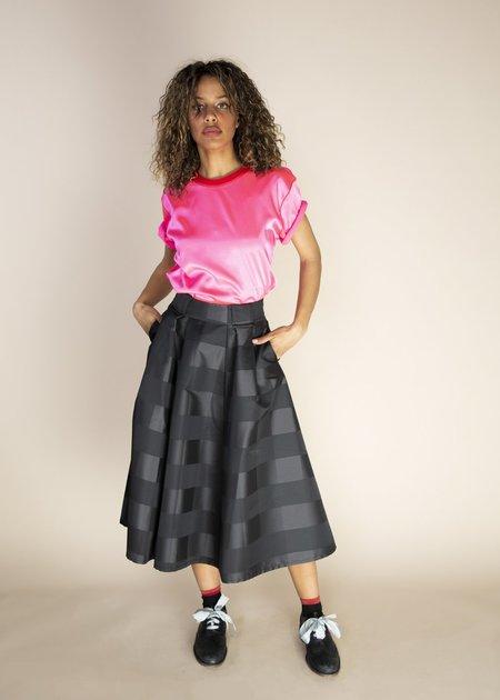 Echappees Belles Jess Checked Skirt - black check