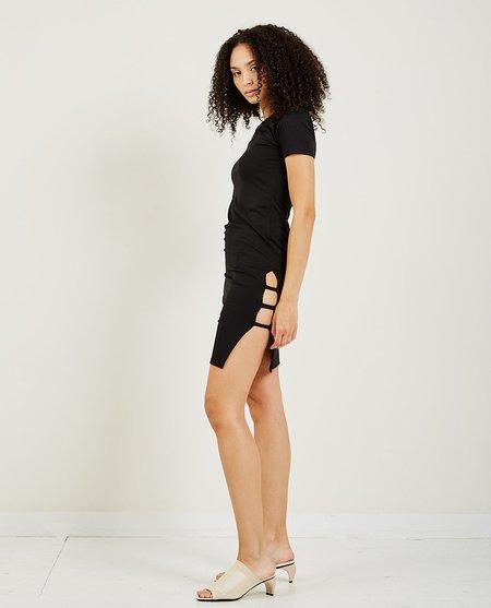 AR321 Midi Side Slit Dress - Black
