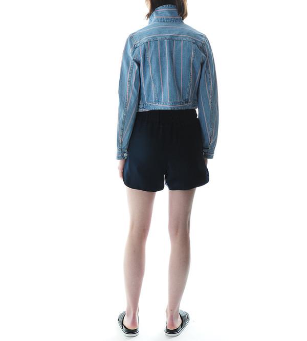 T By Alexander Wang Selvage Stripe Denim Jacket