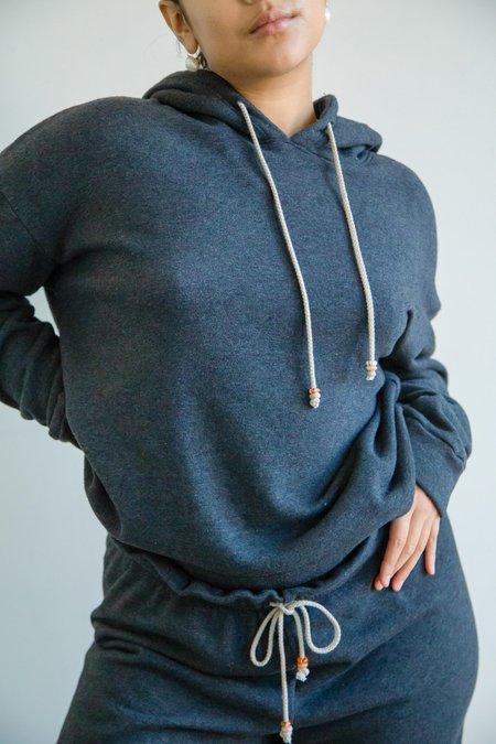 Donni. Vintage Fleece Gem Hoodie - Charcoal