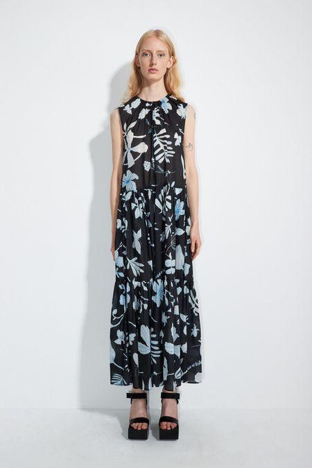 Christian Wijnants DHAMIR MAXI DRESS - BLACK IRIS
