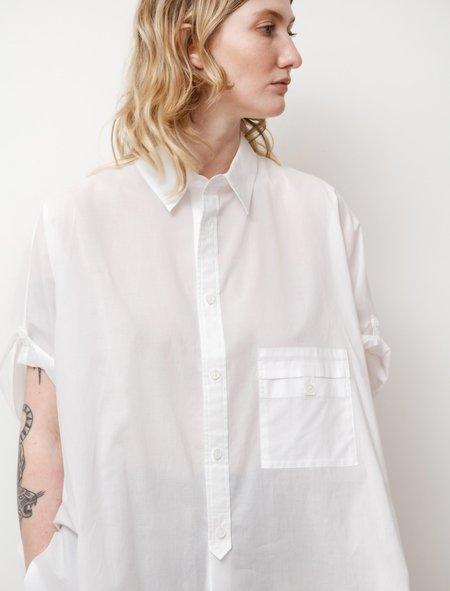 Y's by Yohji Yamamoto Roll Sleeve Shirt - White