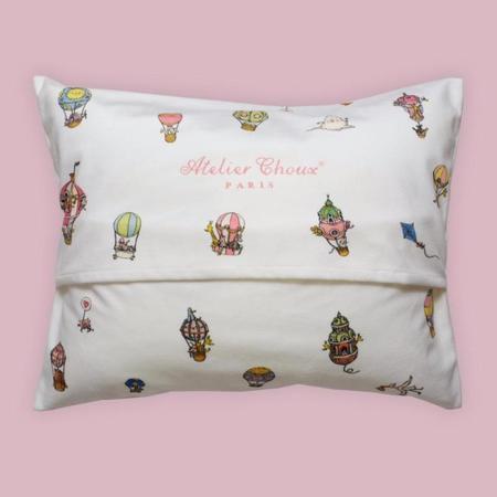 Kids Atelier Choux Velour Cushion - Hot Air Balloon