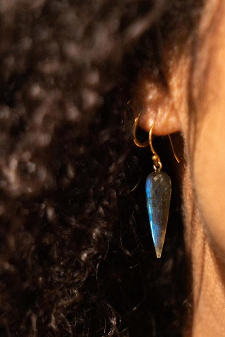 Percent Jewelry Faceted Labradorite Drop Earring - Gold