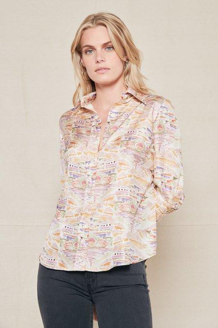 La Prestic Ouiston Emmanuelle Shirt - L.A. SUNSET BEIGE