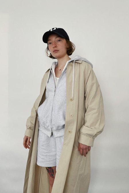 JOWA. ZIP UP HOOD TOP + SHORTS SET - GRAY MELANGE